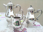 Christofle MARLY French coffee tea set 3 pieces silverplated MINT Rare + 4000USD