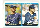 Evan Longoria + Wil Myers 2014 Topps Heritage 4 25 Real One Dual Autograph Auto