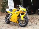 Yellow Ducati 996 OEM lower right fairing