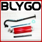 Exhaust Pipe + RED Alloy Muffler 150cc 200cc 250cc PIT Quad Dirt Bike ATV Buggy