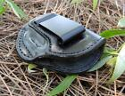 KEL TEC PF 9 PF9 BLACK LEATHER LEFT HAND IN PANTS IWB CONCEALMENT HOLSTER