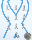 NEW 10 TIBET SILVER AWARENESS RIBBONS CHARMS PENDANTS CUTE