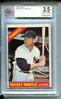 1966 Topps #50 Mickey Mantle BVG 3.5