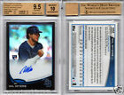 WIL MYERS RC AUTO 2013 TOPPS CHROME BLACK REFRACTOR #'d 100 BGS 9.5 10