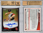 Shelby Miller RC AUTO 2013 TOPPS CHROME BLACK REFRACTOR #'d 70 100 BGS 9.5 10