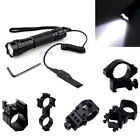 Outdoor CREE T6 LED 1000LM Tactical Flashlight Torch with Mount Pressure Swit