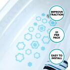 Adhesive Flower Bath Treads (21 Per Pack) in Blue by SlipX Solutions