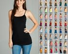 LONG LAYERING TUNIC COTTON SPANDEX CAMI CAMISOLE TANK TOP REG PLUS 52 COLOR S 3X