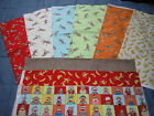 9 Assorted Sock Monkey & Banana FAT QUARTERS ~ SALE~ Free ship