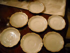 7 W.H.Grindley 1914-24 England Coffee Cup Saucers Scalloped Edge Gold Accent.