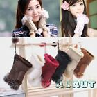 Women Girls Hand Wrist Warmer Fingerless Winter Gloves