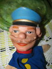 Vintage Rubber Head Policeman or Conductor Hand Puppet
