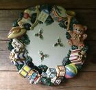 Omnibus By Fitz And Floyd Toyland Canapé Plate 1996 Christmas Holiday Decor