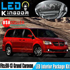 16 PCS White LED Lights Interior Package Deal for 2008-2013 Dodge Grand Caravan