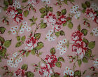NEW~ROBYN PANDOLPH~HANNAH BELLA~Pink COTTAGE Roses QUILT Sewing FABRIC