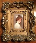 PAINTING OF A WOMAN ON PORCELAIN PLAQUE, SIGNED WAGNER