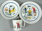 PORSGRUND EGERSUND Plate Bowl Coffee Cup Fishing Sweeping Chores Nordic Norsk