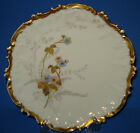 ANTIQUE LIMOGES PORCELAIN PLATE VICTORIAN COIFFE HAND PAINTED GOLD FRANCE 1891