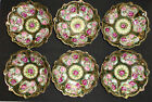 ANTIQUE NIPPON PORCELAIN BOWL HAND PAINTED GOLD MORIAGE ROSES BEADED JAPAN SET 6