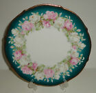ANTIQUE PORCELAIN CABINET PLATE HAND PAINTED GOLD ROSES GERMANY VICTORIAN 1903