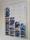Hot wheels Display Case white for carded cars w Dust Cover for up to 52 cars