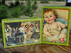 Lot 2 Vintage Genesee Picture art Puzzles of baby child infant family cute decor