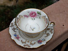 Spectacular Large Eschenbach Germany US Zone Ornate Gold Floral Cup Saucer Set