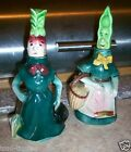 Vtg 50's Anthropomorphic Japan Vegetable Mrs Radish Peapod Cruet Kitchen Set