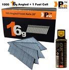 Paslode Hitachi Bostitch Angle 16G Second Fix Nails & Gas Pack (Angled 16g)