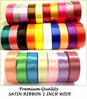 Premium Quality Roll 25mm Satin ribbon 22m 25 rolls single faced party craft