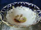COALPORT   SLOP BOWL  ADELAIDE ENGLISH LANDSCAPES MOLDED RIMS  GOLD  c183O