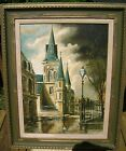 Authentic Original Oil Painting by James Hussey of a Cathedral in New Orleans
