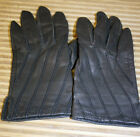 WOMEN'S PAOLO VICO VINTAGE GRAY LEATHER GLOVES SIZE M