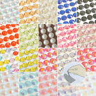 SMALL Sticker Sheet 3 8mm Self Adhesive Rhinestones  Pearls Stripe Colors Gems