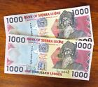 Sierra Leone (West Africa) Banknotes: 2 * 1,000 Leones (2006) UNCIRCULATED 1000