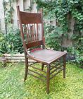 Antique Carved Pressed Back Chair