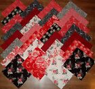 5 Fabric Quilt Squares LADY IN RED Charm Pack Ro Gregg 1628