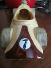 RACE CAR DRESSER CADDY/PLANTER RELPO #6977 CERAMIC  VROOM! NASCAR/ INDI 500 FAN?