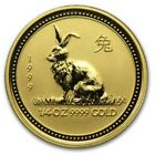 1999 Lunar Solid Gold 999.9 Year Rabbit 1/4 oz Rare Bullion Au 24K $25 Australia