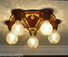 { BEAUTIFUL}  VINTAGE  20-30's  CEILING LIGHT LAMP Fixture POLYCHROME 5 Lights
