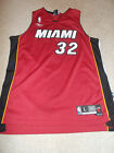 VTG-2000s Miami Heat Shaquille O'neal Reebok Authentic Sewn Jersey Large