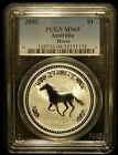 2002 PCGS MS69 Australia Lunar Year of the Horse 1oz Silver (a79)