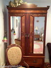 ANTIQUE ARMOIRE, AMERICAN, C.1890s, WALNUT, BEVELED MIRROR DOORS, EXCELLENT COND