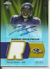 2011 Topps Chrome Torrey Smith RC Auto Patch #d 25 Ravens