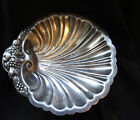 W&S Blackington Caviar Serving or Candy Bowl Silverplate Dish Figural Clam Shell