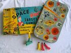 Vintage Rare MARX TARGET GAME Outer Space Rocket / Combat Manuever Tin Litho Box