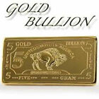 Collectors 24K Gold  100 Mills Five Gram Buffalo Bullion Bar Rare