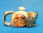 China hetian jade hand-carved Pig statue Amulet Teapot