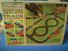 VINTAGE 1965 IDEAL MOTORIFIC ALCAN TORTURE TRACK SET, ONE CAR AND EXTRA TRACK