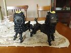 Vintage~Porcelain~SPAGHETTI POODLE FIGURINES~ITALY~NUMBERED PIECES~RARE~UNIQUE